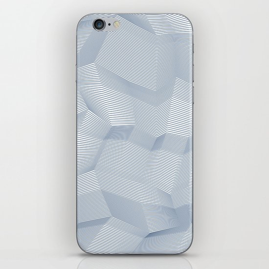 Facets - White and dark blue iPhone & iPod Skin