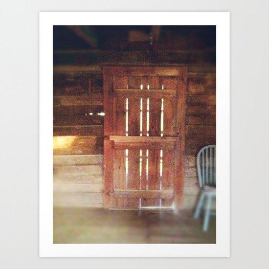 The Cabin Door  Art Print