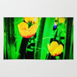 Flowers magic marsh Marigold Rug