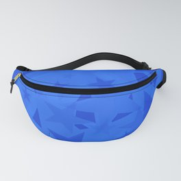 Chaotic blue stars on a sea background in projection and with depth. Fanny Pack