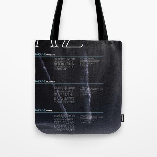 BAKANE FONT Tote Bag