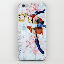Power Girl Grunge iPhone Skin