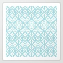Breeze Block Shibori Seafoam Art Print