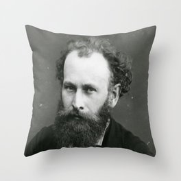 Portrait of Manet by Nadar Throw Pillow