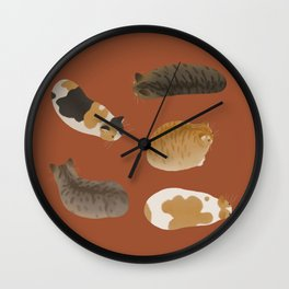Cat Loaves Wall Clock