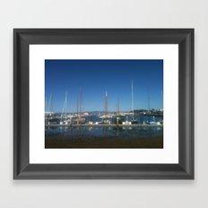 Tourists in San Francisco Framed Art Print
