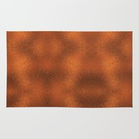 gold foil Area & Throw Rugs featuring Gold Foil Texture 4 by Robin Curtiss