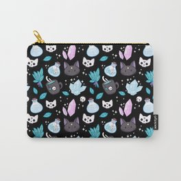Herb Witch // Black Carry-All Pouch