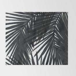 Palms Black Throw Blanket
