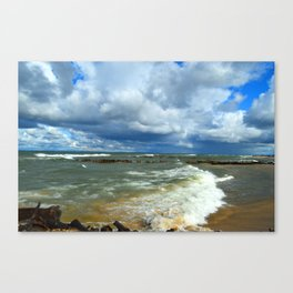 Waves at Whitefish Point Canvas Print