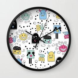 Little Monsters Wall Clock