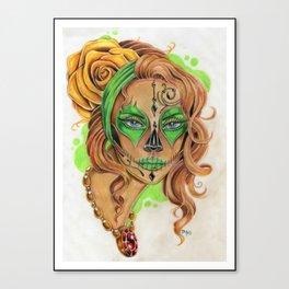 Sugar Skull Beauty Canvas Print