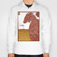 smaug Hoodies featuring Smaug and His Treasure by Hinterlund