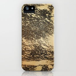 Gold on Black iPhone Case