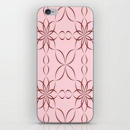 Maroon calligraphic pattern iPhone Skin