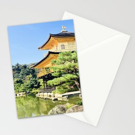 Castle in gold Stationery Cards
