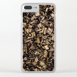 Wood Chips Clear iPhone Case