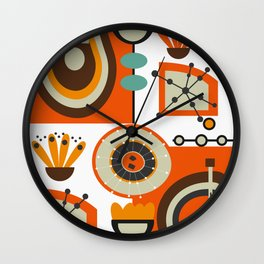 Vinyl and flowers Wall Clock