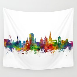 Rostock Germany Skyline Wall Tapestry