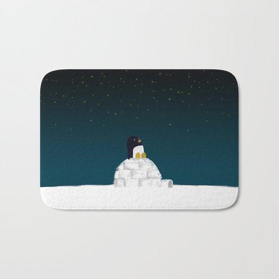 Star gazing - Penguin's dream of flying Bath Mat