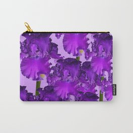 Contemporary Purple Iris Garden Art Carry-All Pouch