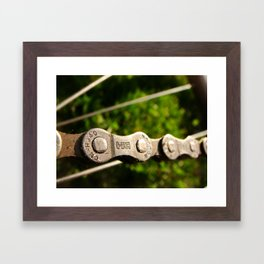 Chains in Nature Framed Art Print