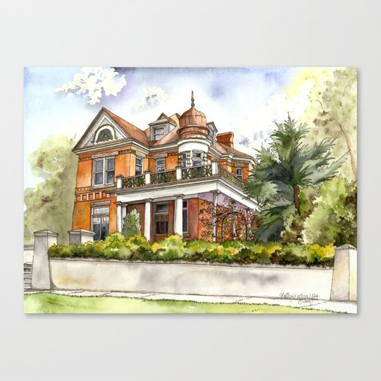 Stately Manor House Canvas Print