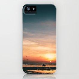 Horseback Sunset - Bali, Indonesia iPhone Case