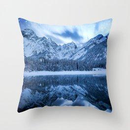 Fantasy at mountain lake Throw Pillow