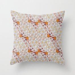 Tetris Rainbow Pattern - Copic & Ink Drawing Throw Pillow