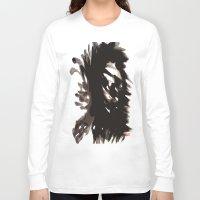 blur Long Sleeve T-shirts featuring Skull Blur  by Myles Hunt