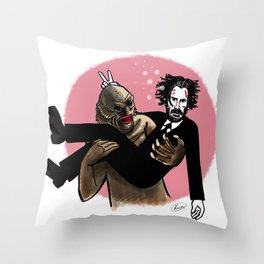 John Wick and the Creature of the Black Lagoon Throw Pillow