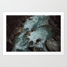 phakding river, nepal Art Print