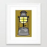 lantern Framed Art Prints featuring Lantern by mailboxdisco