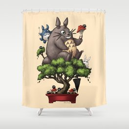 Forest Guardian Bonsai  Shower Curtain