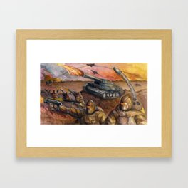 In The Crossfire Framed Art Print