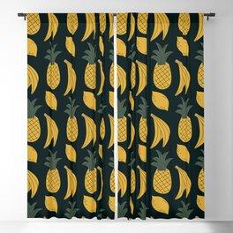 Pineapple Banana Lemon Fruit Pattern Blackout Curtain