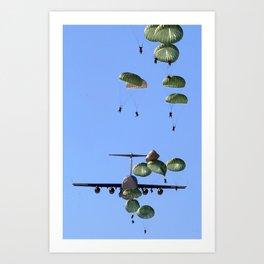 parachute parachutist Art Print