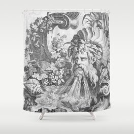 Fountain with Alpheus -  Pierre Quentin Chedel (1738) Shower Curtain