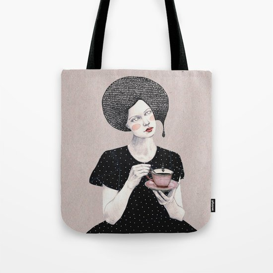 Nina in black Tote Bag