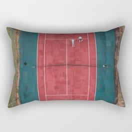 Tennis court, view of drone Rectangular Pillow