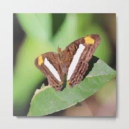Butterfly brown on leaf Metal Print