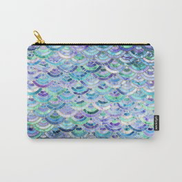 Marble Mosaic in Sapphire and Emerald Carry-All Pouch