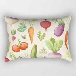 Garden Veggies Light Rectangular Pillow