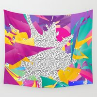 80s Wall Tapestries featuring 80s Abstract by Danny Ivan