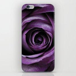 Purple Rose Decorative Flower iPhone Skin