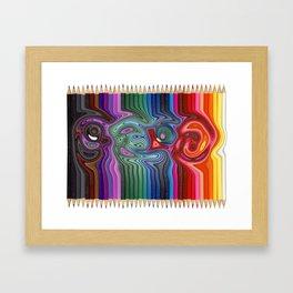 Twisted Pencils Framed Art Print