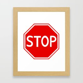 Red stop sign Framed Art Print