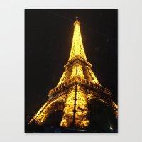 eiffel tower Canvas Prints featuring Eiffel Tower by AshleyPickles