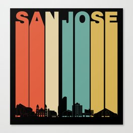 Vintage 1970's Style San Jose California Skyline Canvas Print